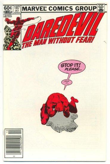 Daredevil #187 Stop It! Please... Miller/Janson Classic!