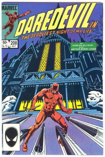 Daredevil #208 Deadliest Night Of My Life Harlan Ellison !