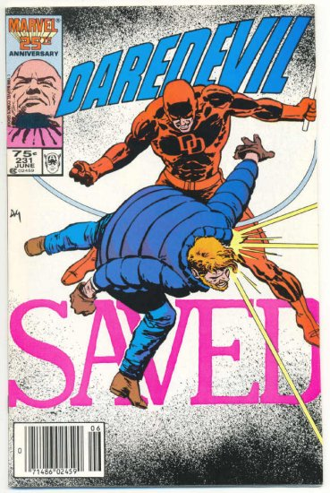Daredevil #231 Saved Miller Mazzucchelli Born Again series!