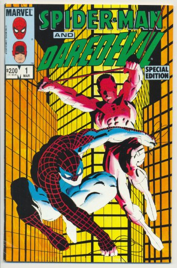 Spider-Man And Daredevil Special #1 Miller Art 1984 !
