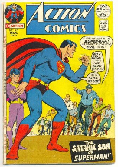 Action Comics #410 The Satanic Son Of Superman 1972 !