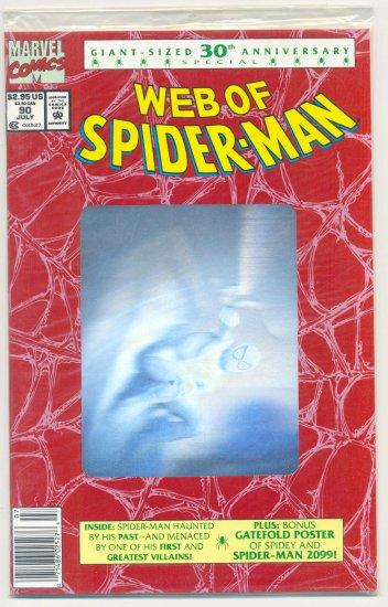 Web Of Spider-Man #90 30th Anniversary Hologram Special NIB !