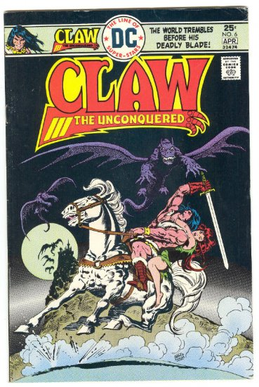 Claw The Unconquered #6 Chan Art 1976 !