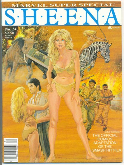Marvel Super Special #34 Sheena Tanya Roberts VF HTF !!