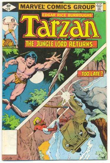 Tarzan #24 Death Of Jane 1979 Marvel Classic !