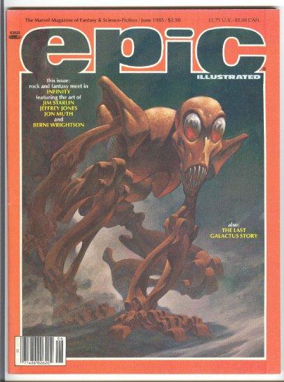 Epic #30 Byrne's Last Galactus Story 1985 VF !