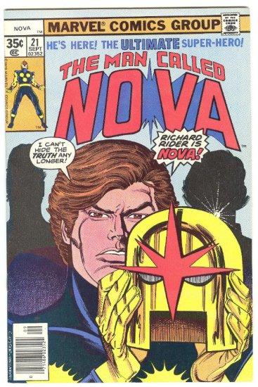 Nova #21 The Secret Revealed 1978 Classic !