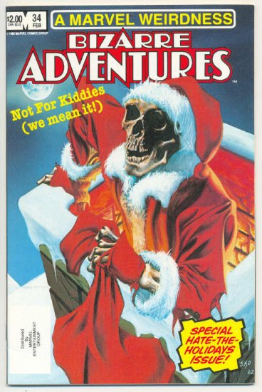 Bizarre Adventures #34 Hate The Holidays Special HTF 1982 !