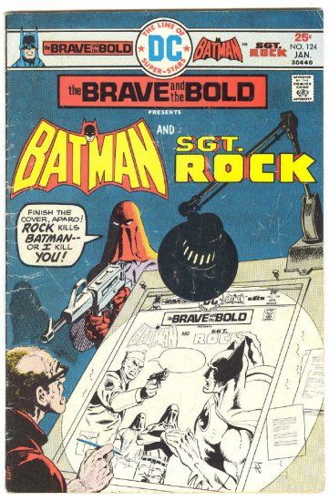 Brave And The Bold #124 Batman & Sgt. Rock w/ Aparo App