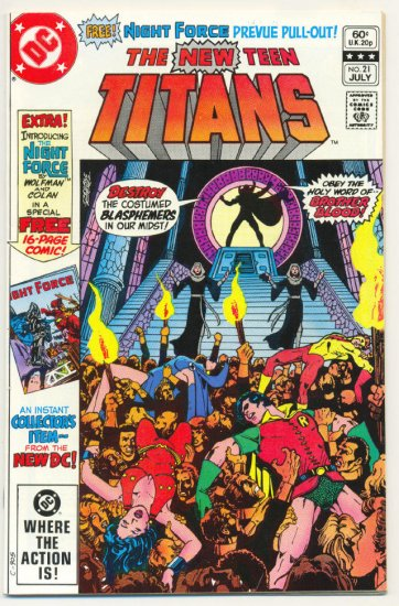New Teen Titans #21 1st Brother Blood Perez Classic !