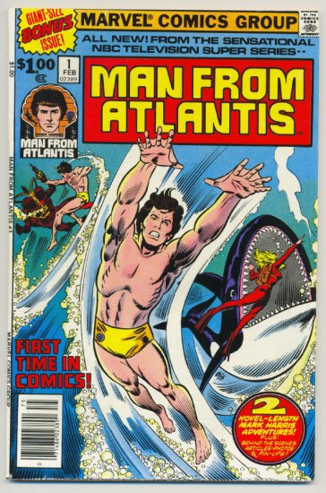 Man From Atlantis #1 Bronze Age HTF NM- Beauty