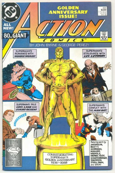 Action Comics #600 80 Page giant Anniversary Issue Byrne Perez art!
