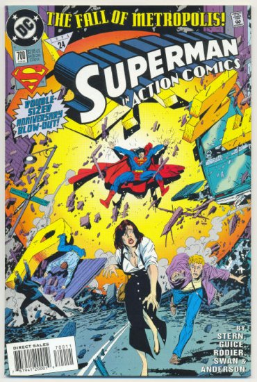 Action Comics #700 The Fall Of Metropolis Anniversary Issue