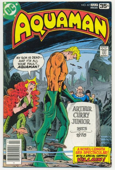 Aquaman #62 Death Of Aquaman's Son 1978 Newton Art !