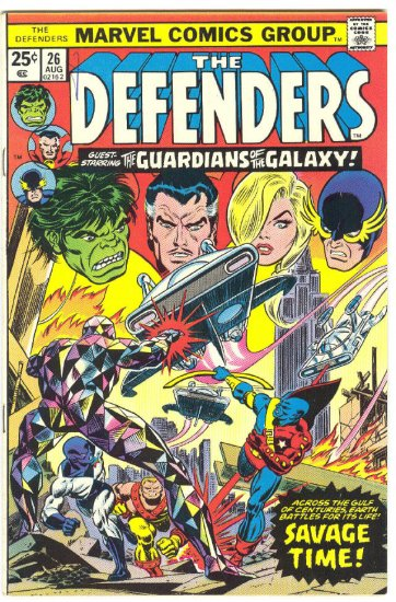 Defenders #26 1st Guardians Of The Galaxy HTF 1975