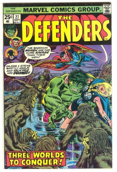 Defenders #27 Beware The Badoon Women HTF 1975