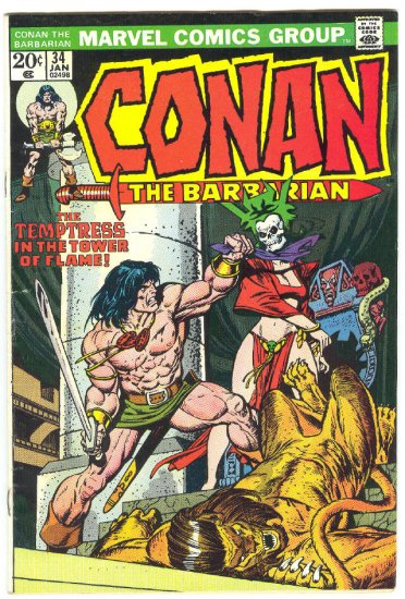 Conan The Barbarian #34 The Tower Of Flame Buscema Classic!