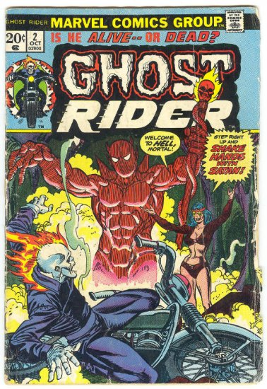Ghost Rider #2 Shake Hands With Satan Mooney Art 1973