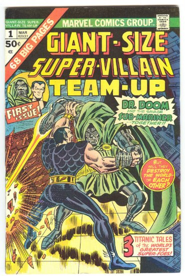 Giant-Size Super-Villian Team-Up #1 Sub-Mariner vs Dr. Doom HTF 1974