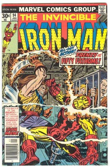 Iron Man #94 Frenzy At Fifty Fathoms 1977