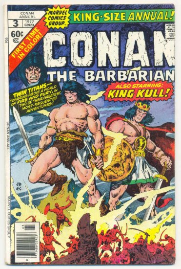 Conan The Barbarian Annual #3 King Kull Buscema 1977