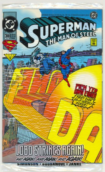 """Superman The Man Of Steel #30 Special Colorforms """"Pick Your Own Fight"""" Issue"""