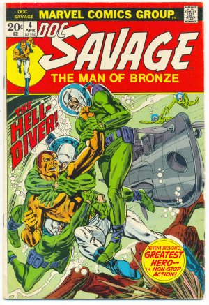 Doc Savage #4 The Hell-Diver Andru & Kane Classic 1973