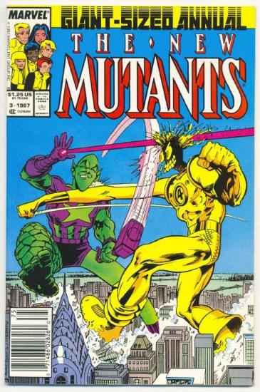 New Mutants Annual #3 Impossible Man Alan Davis Art