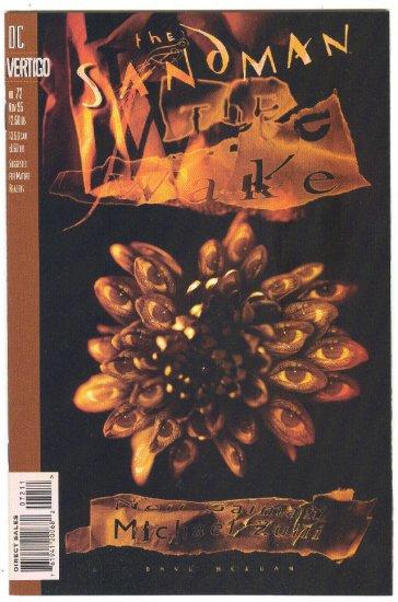 Sandman #72 The Wake Gaiman & Zulli HTF NM Vertigo Issue