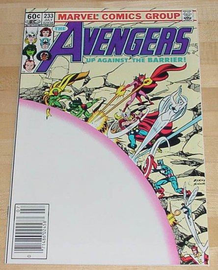 Avengers #233 Up Against The Barrier Byrne Art 1983