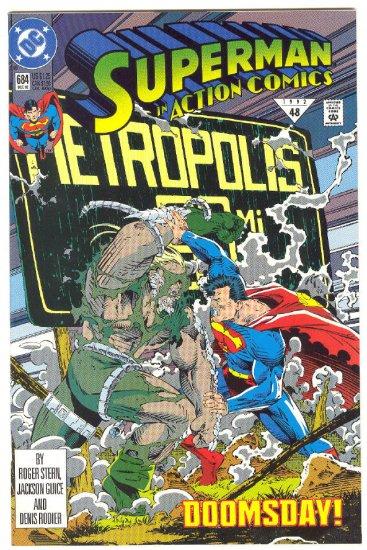 Action Comics #684 Doomsday! 1992 VFNM 1st Print