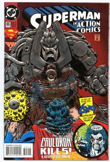 Action Comics #695 Cauldron Kills! Fancy Foil Cover 1994