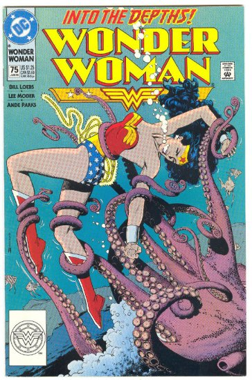 Wonder Woman #75 Into The Depths Bolland Cover