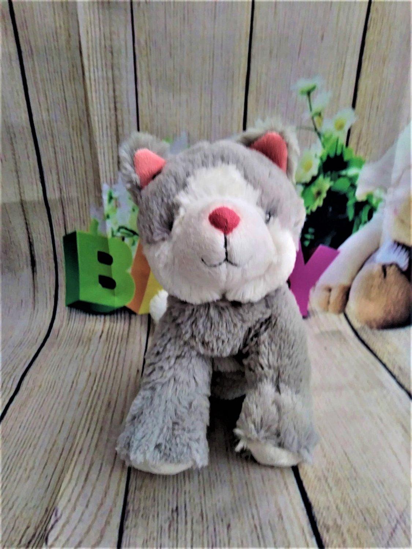 Carter's Grey Pink Kitty Cat Stuffed Animals