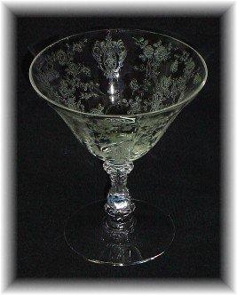 Low Sherbet Cambridge Rosepoint Crystal 7 oz