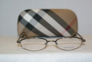 Brand New Burberry Silver Eyeglasses: Mod. 8911 49-17 & Case