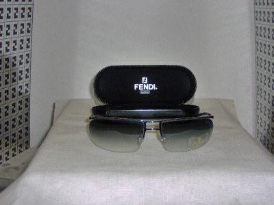 B. New Fendi Gunmetal Sunglasses: Mod. FS 273 & Case