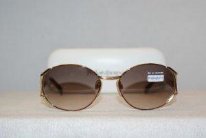 New YSL Yves Saint Laurent Vintage Gold Sunglasses: Mod. 6036 & Case