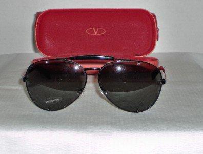 Brand New Valentino Black Sunglasses: Mod. 1150 & Case