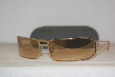 Brand New Miu Miu Shiny Gold Sunglasses: Mod. SMU 58D (5AK-6R1) 66-17 & Case