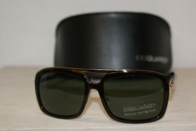 Brand New DSquared2 Dark Tortoise Sunglasses: Mod. DQ0026 (54N) 56-16 & Case