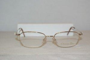 Brand New Christian Dior Shiny Gold Eyeglasses: Mod. 3540 (45Y) 52-17 & Case
