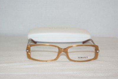Brand New Versace Gold Eyeglasses: Mod. 3113-B & Case
