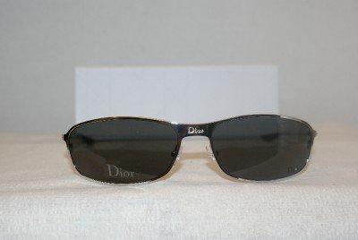 New Christian Dior Gunmetal Sunglasses Hard Dior 2 Case