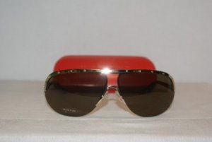 Brand New Valentino Gold Horn Sunglasses: Mod. 1188 (SUO) & Case