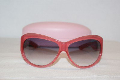 New Juicy Couture Pink Sunglasses: Mod. Lady Luck &Case