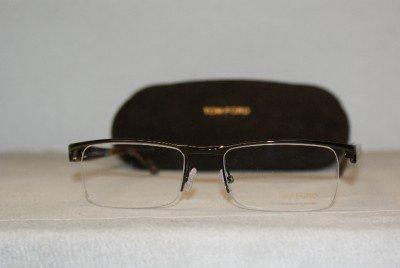 New Tom Ford Shiny Brown Metal Eyeglasses: Mod. TF 5200 (048) 54-19 & Case