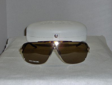 Brand New Diesel Gold Sunglasses: Mod. Angelika & Case