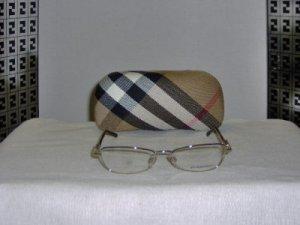 Brand New Burberry Gold Eyeglasses: Mod. 1009 & Case