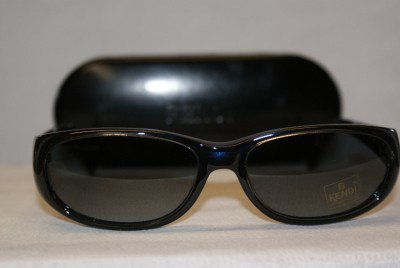 B. New Fendi Shiny Blue Sunglasses: Mod. FS217 & Case